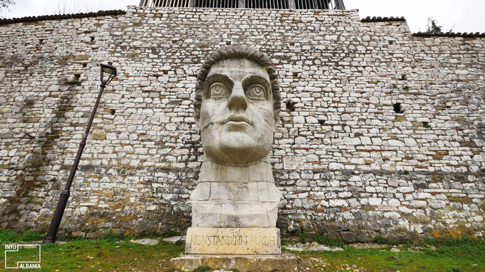 Costantine Statue Berat in tour of Berat
