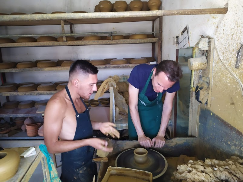 Pottery class Albania
