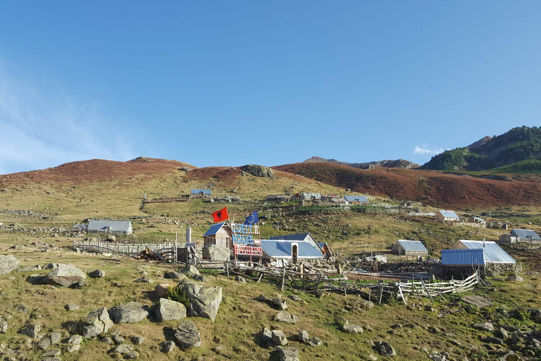 Albanian remote village near Cerem