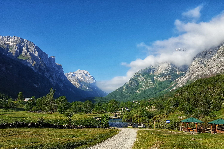 local village in the alps of Albania