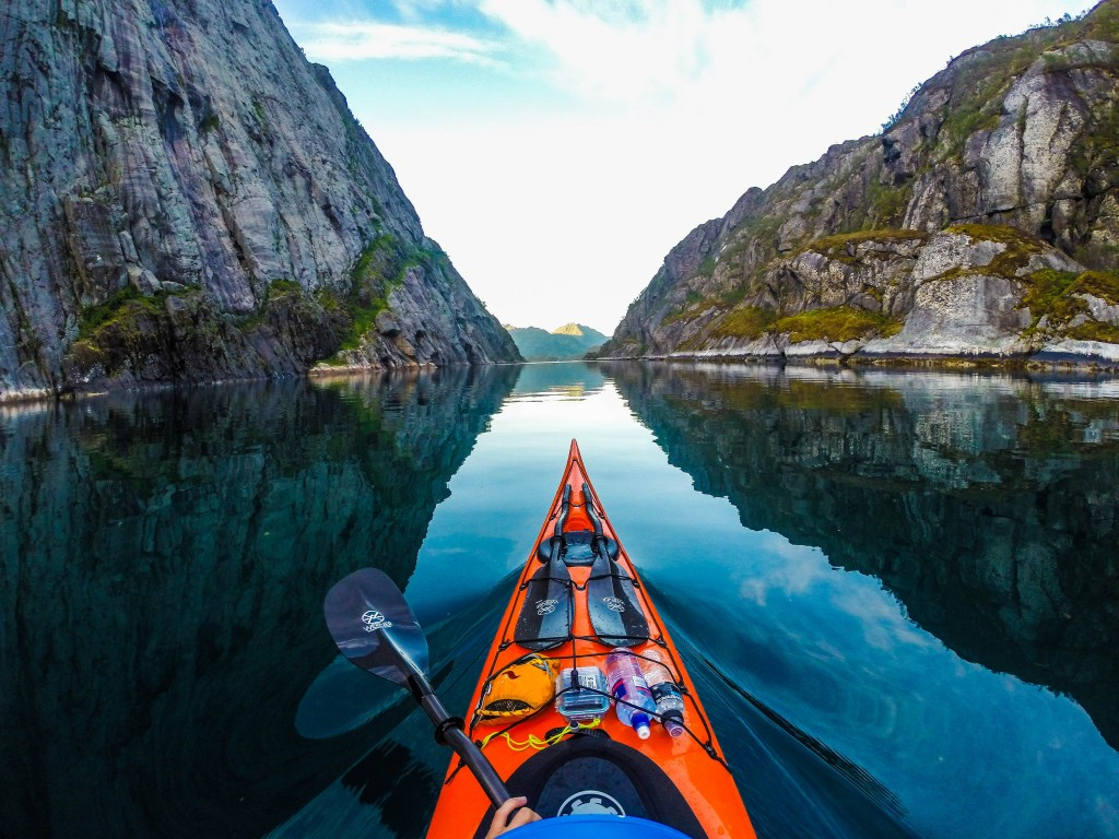 Kayaking in Koman Lake albania
