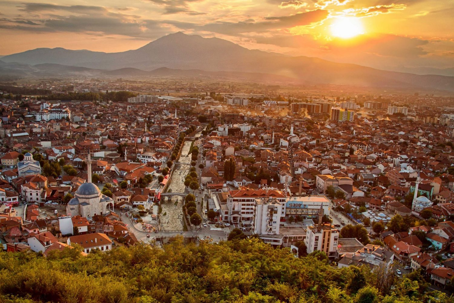 City of Prizren in Sunset
