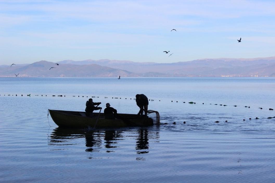 fishing at Ohrid Lake