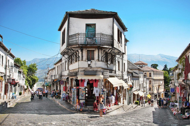 The Old Bazaar of Gjirokaster