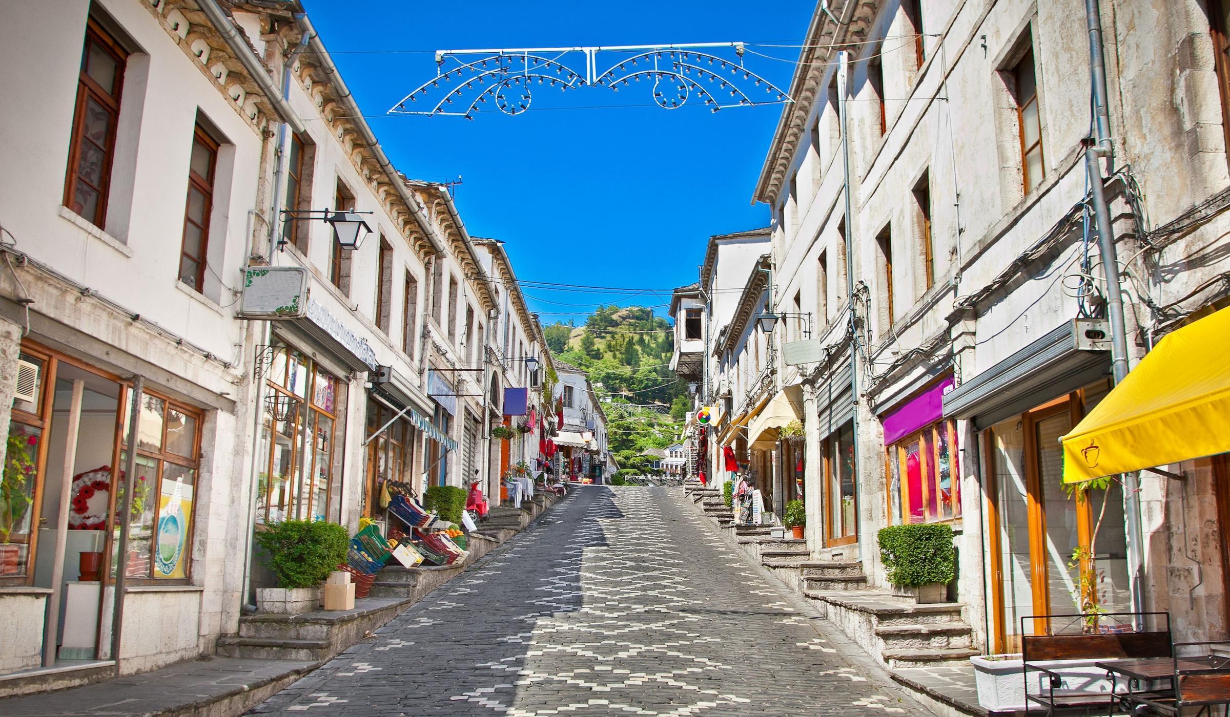 The Bazaar Area Gjirokaster