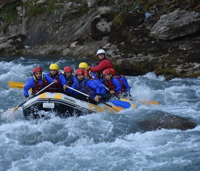 Rafting at Vjosa River