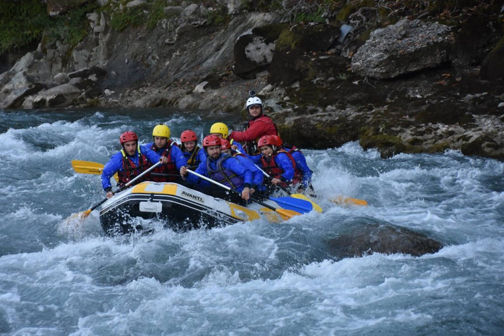 Rafting at Vjosa River
