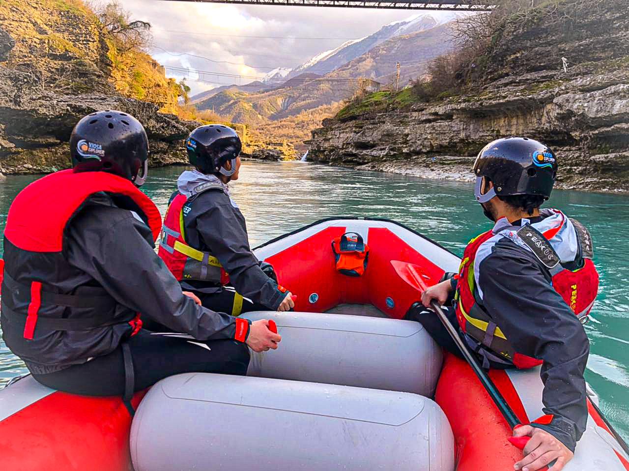 Rafting at Vjosa River Albania - go as local